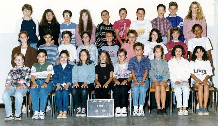 photo de classe 5 eme 3 de 1993 coll 232 ge mont duplan
