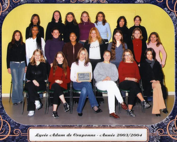 Photo de classe bts ad1 de 2003 adam de craponne for Lycee craponne salon