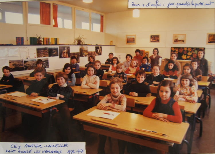 photo de classe ce2 montier la celle saint andr les vergers de 1976 ecole montier la celle. Black Bedroom Furniture Sets. Home Design Ideas