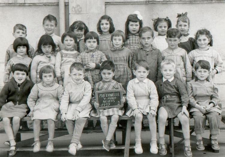 photo de classe derni 232 re 233 e maternelle de 1957 ecole lucette salle nevers copains d avant