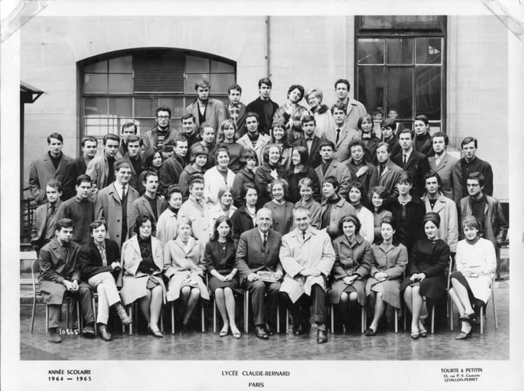 Photo de classe 1 re ann e claude bernard de 1964 centre de pr paration au professorat de - Centre claude bernard guilherand granges ...