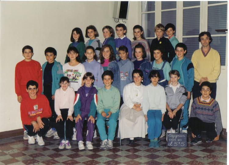 photo de classe 5e5 de 1989 coll ge joseph anglade