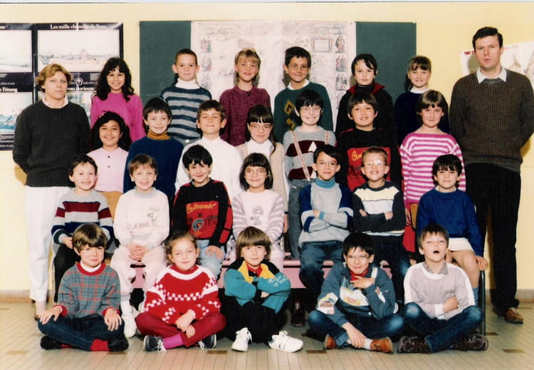 photo de classe ce1 de 1986 ecole paul langevin saint. Black Bedroom Furniture Sets. Home Design Ideas