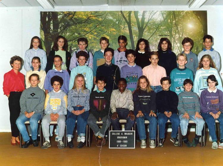 photo de classe 4 m edison de 1988 coll ge alfred mauguin copains d 39 avant. Black Bedroom Furniture Sets. Home Design Ideas