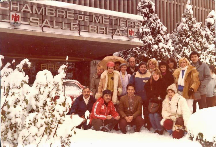 Photo de classe 1985 nice sous la neige de 1985 cecam for Chambre des metiers nice
