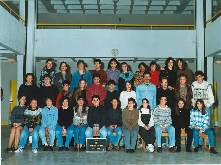 photo de classe lycee de verneuil de 1993 lyc 233 e porte de normandie copains d avant