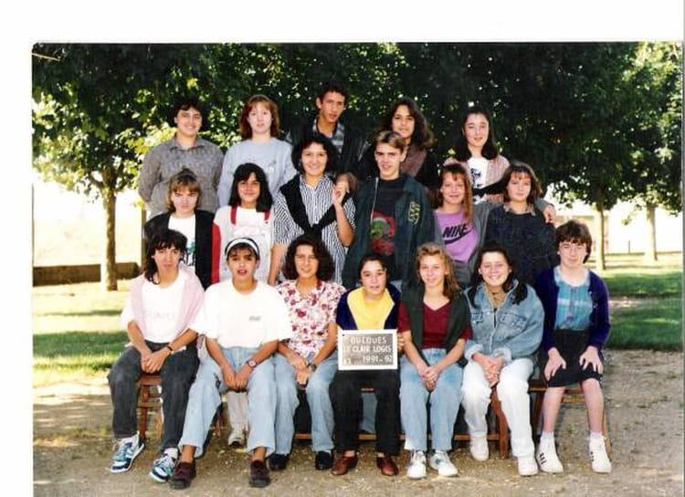 Photo de classe 4eme 3eme tech oucques de 1991 le clair for Le clair logis