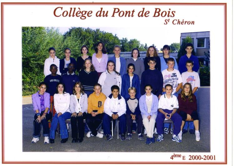 Photo de classe 4eme E de 2000, Collège Du Pont De Bois  Copains d  ~ College Du Bois D Orceau