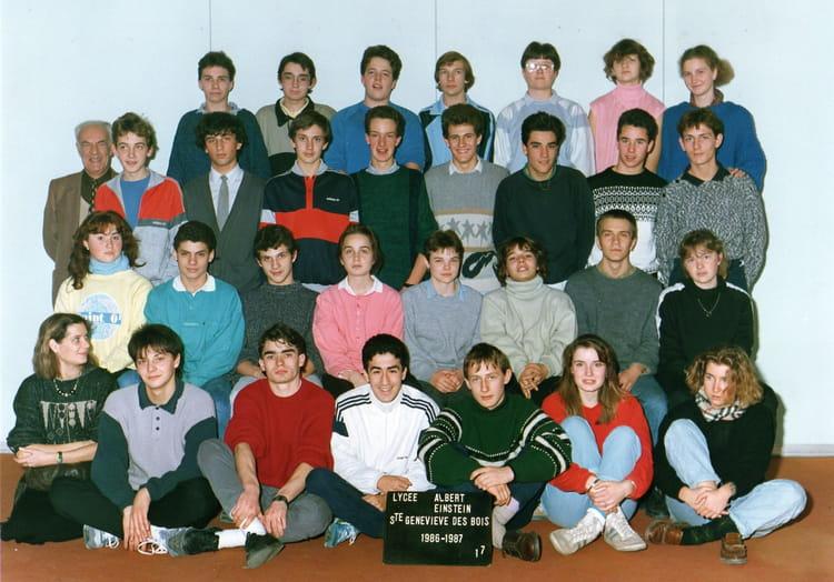photo de classe 1 s 7 de 1986 lyc e albert einstein copains d 39 avant. Black Bedroom Furniture Sets. Home Design Ideas