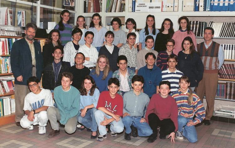 Photo De Classe Classe 309 De 1993  Coll U00e8ge Charles De